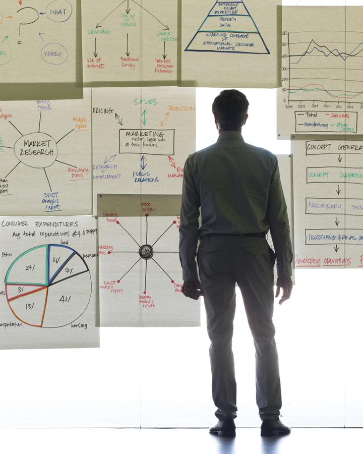 xcg Business Coaching – Diagramme glass wall